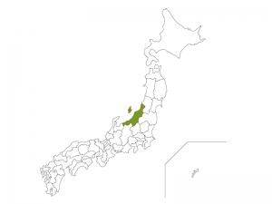 日本地図と新潟県のイラスト