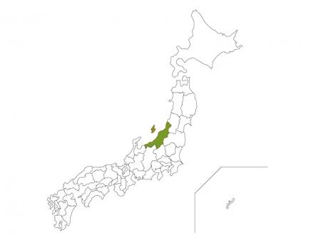 日本地図と新潟県のイラスト ...