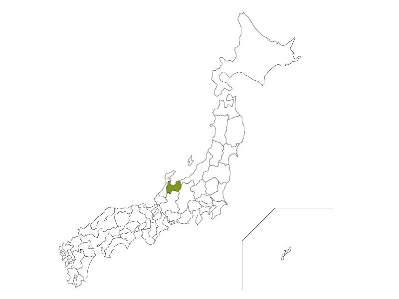 日本地図と富山県のイラスト