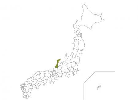 日本地図と石川県のイラスト