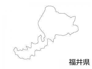 福井県の白地図のイラスト素材