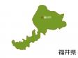 福井県と福井市の地図イラスト素材