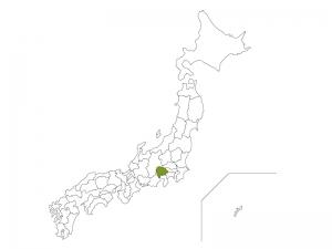 日本地図と山梨県のイラスト