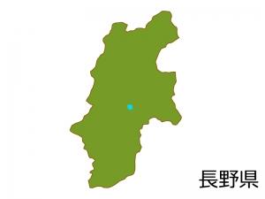 長野県の地図(色付き)のイラスト素材