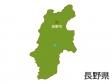長野県と長野市の地図イラスト素材