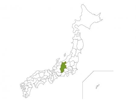 日本地図と長野県のイラスト