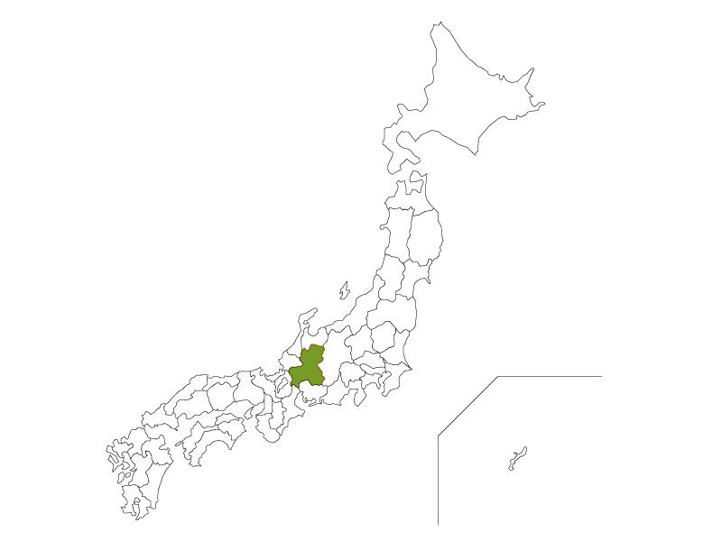 日本地図と岐阜県のイラスト
