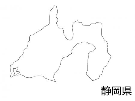 静岡県の白地図のイラスト素材