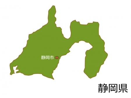 静岡県と静岡市の地図イラスト素材