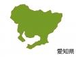 愛知県の地図(色付き)のイラスト素材