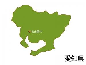 愛知県と名古屋市の地図イラスト素材