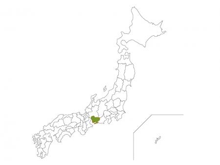 日本地図と愛知県のイラスト