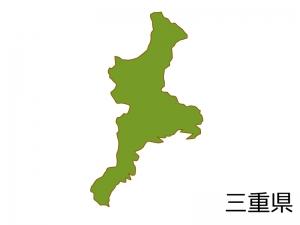 三重県の地図(色付き)のイラスト素材