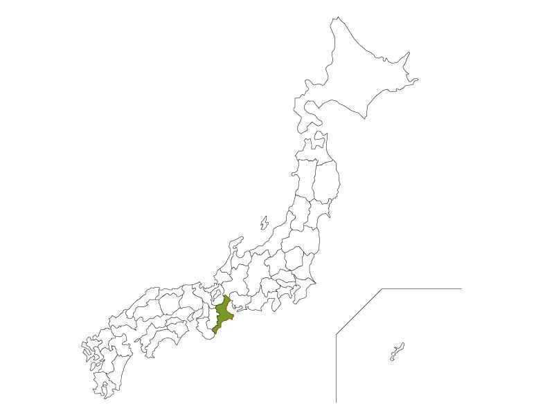 日本地図と三重県のイラスト