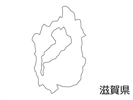 滋賀県の白地図のイラスト素材