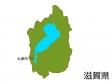 滋賀県と大津市の地図イラスト素材