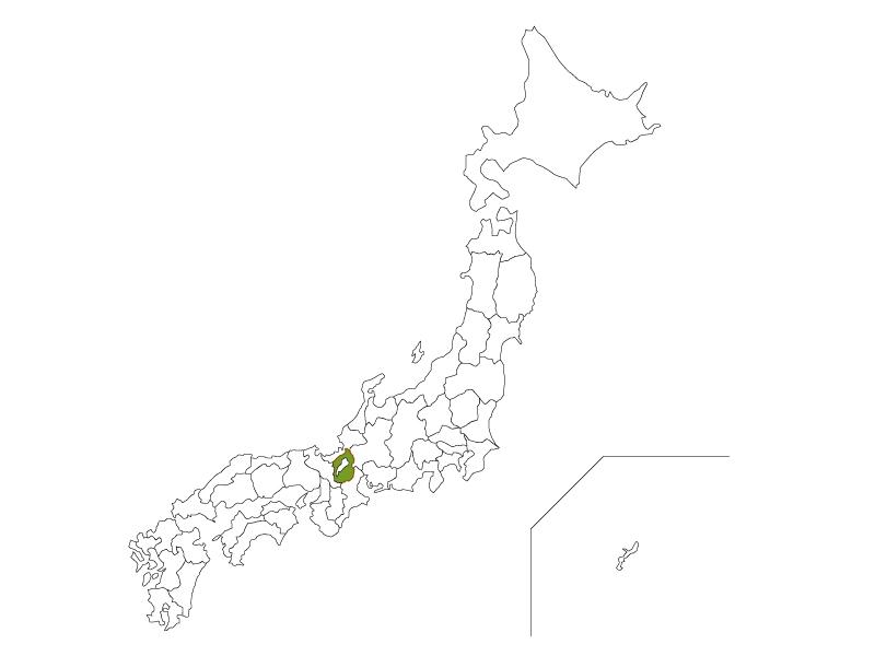 日本地図と滋賀県のイラスト