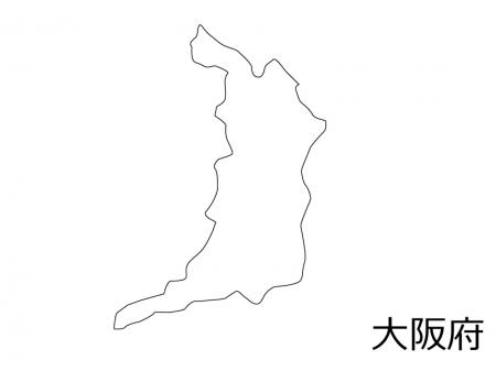 大阪府の白地図のイラスト素材