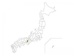日本地図と大阪府のイラスト