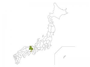 日本地図と兵庫県のイラスト