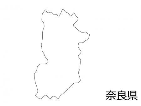 奈良県の白地図のイラスト素材