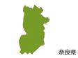 奈良県の地図(色付き)のイラスト素材