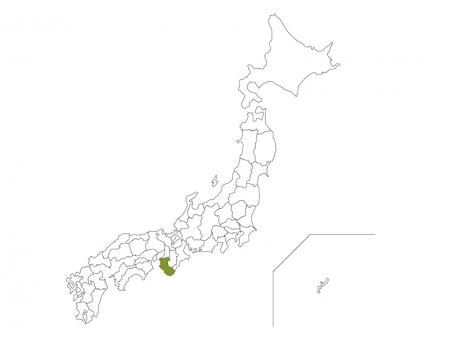 日本地図と和歌山県のイラスト