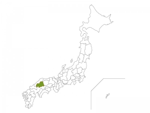 日本地図と広島県のイラスト