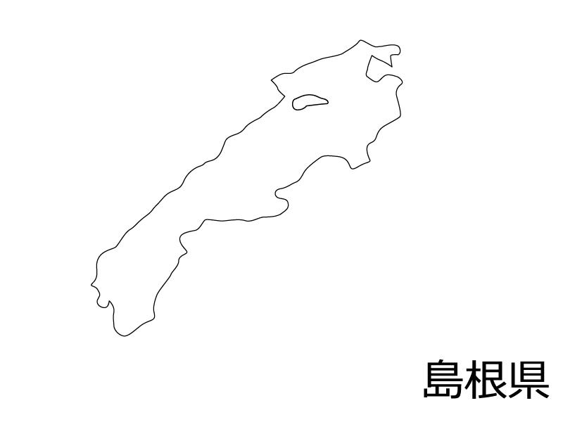 島根県の白地図のイラスト素材
