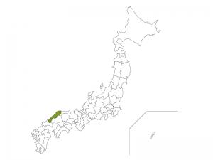 日本地図と島根県のイラスト