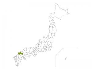 日本地図と山口県のイラスト