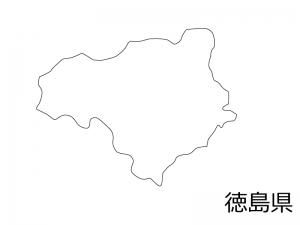 徳島県の白地図のイラスト素材