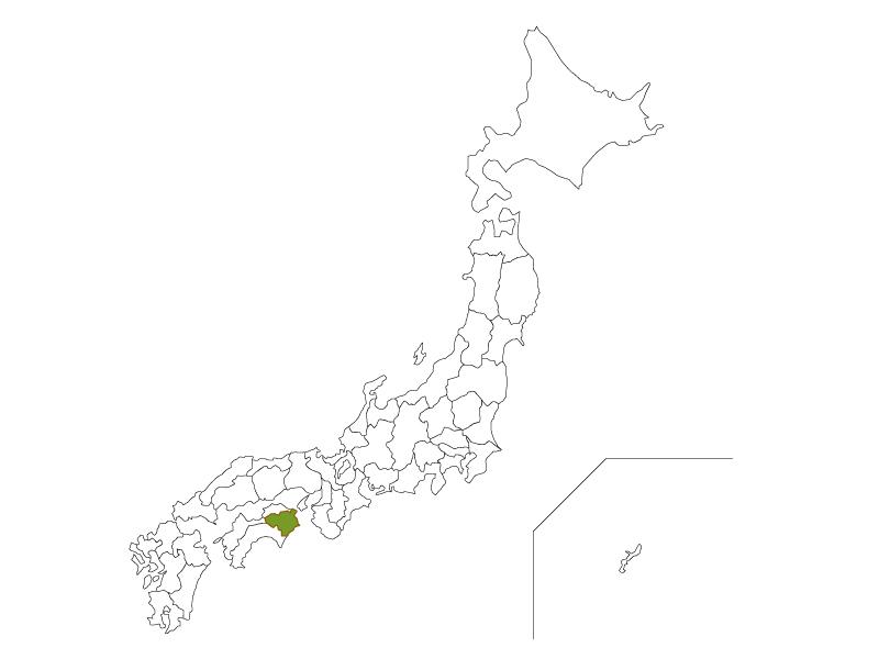 日本地図と徳島県のイラスト