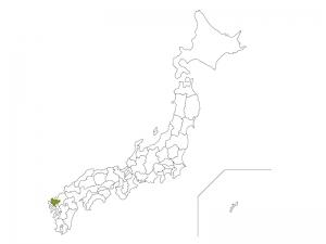 日本地図と佐賀県のイラスト