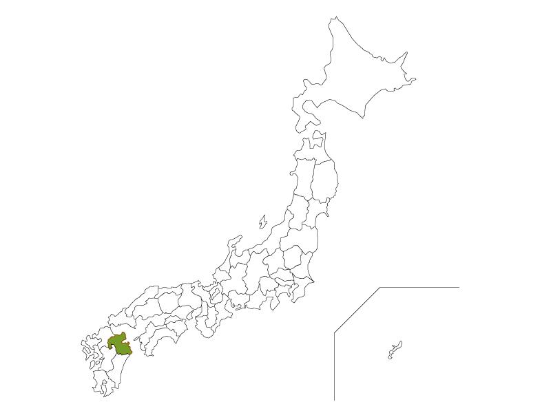 日本地図と大分県のイラスト