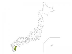 日本地図と宮崎県のイラスト