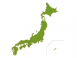 日本地図(ベクターデータ)のイラスト素材