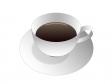 コーヒーが入った白いコーヒーカップのイラスト素材