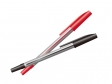 赤と黒のボールペンのイラスト素材