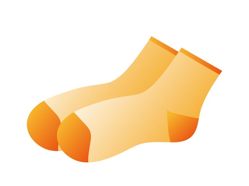 オレンジ色の靴下のイラスト素材