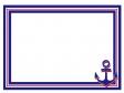 マリンをイメージした碇マークがついたフレーム・枠のイラスト素材