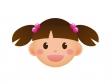 女の子の顔アイコンのイラスト素材