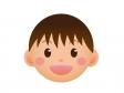 男の子の顔アイコンのイラスト素材