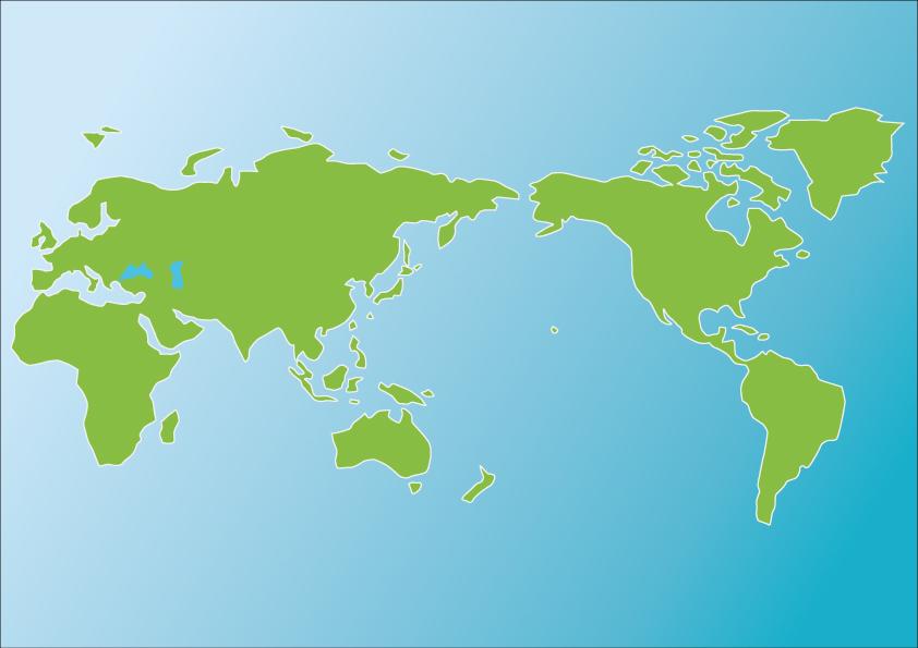 世界地図(色付き)のイラスト素材