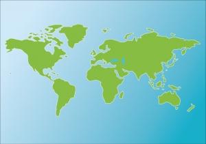 世界地図(色付き)のイラスト素材02