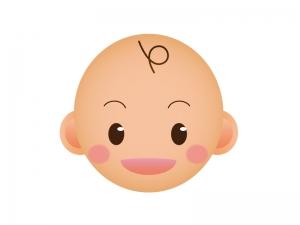 赤ちゃんの顔のアイコンイラスト素材