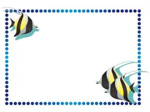 マリンをイメージした魚フレーム・枠のイラスト素材02