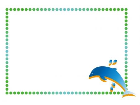 イルカの枠・フレームイラスト素材
