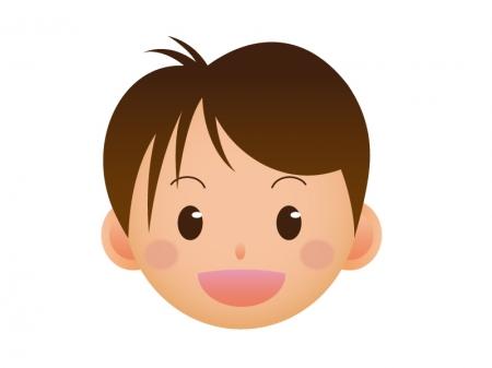 男子学生の顔のアイコンイラスト素材