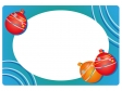 水風船・お祭りのフレーム・枠イラスト素材